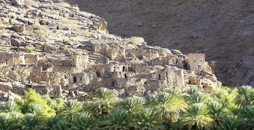 Wadi Ghul im Oman