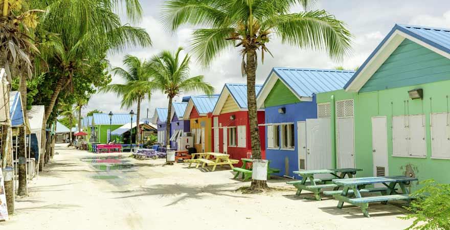 Bunte Häuser auf Barbados