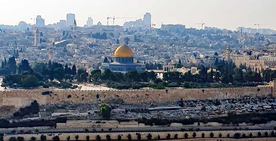 Blick vom Ölberg auf Jerusalem in Israel