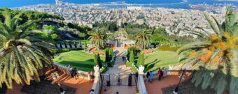 Blick über Haifa in Israel