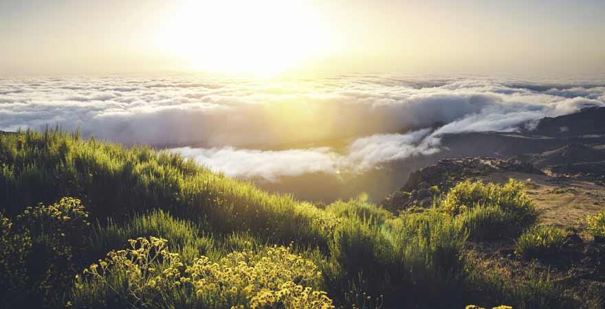 Ausblick vom Pico de Arieiro auf Madeira