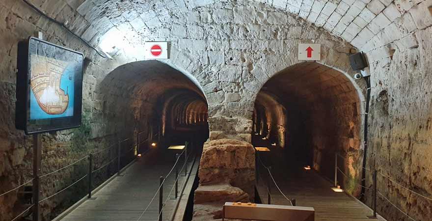 Unterirdische Tunnel in Akkon