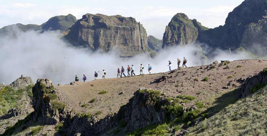 Wanderer auf dem Pico Ruivo