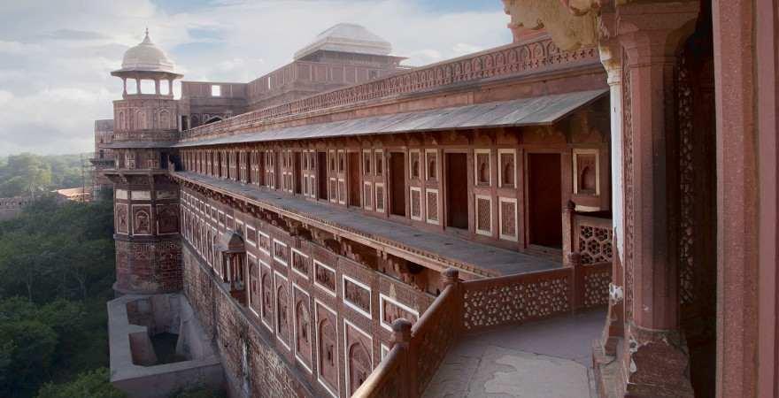 Rotes Fort von Agra in Urrat Pradesh in Indien