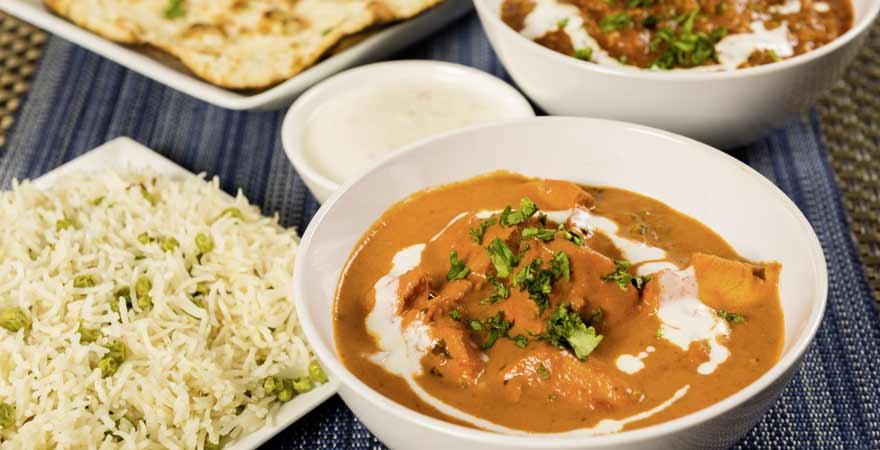 Ein Indisches Curry in einer Schüssel