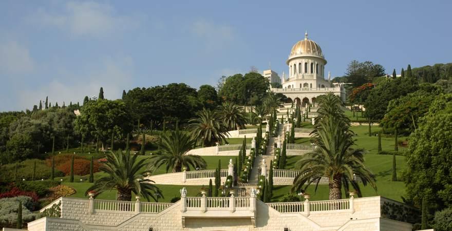 Die Hängenden Gärten der Bahai in Haifa Israel