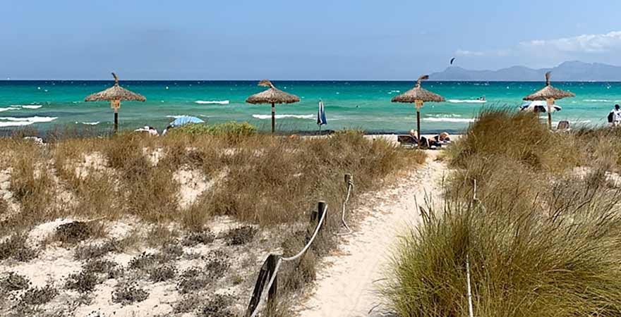 Weg zum Strand auf Mallorca