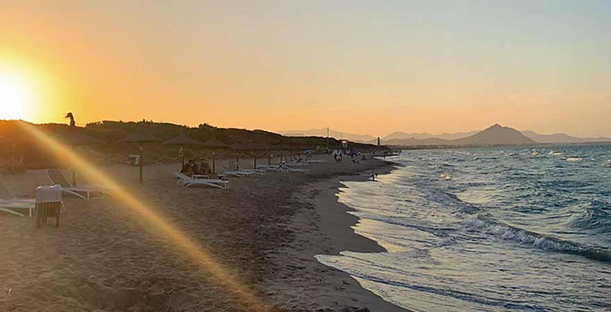 Sonnenuntergang am Strand von Mallorca