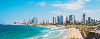 Israels Stadt Tel-Aviv mit Strand und Meer