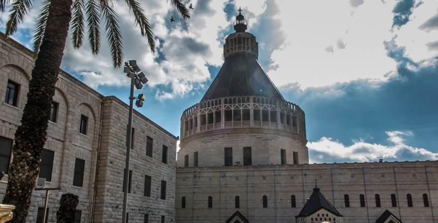 Die Verkündigungskirche oder Verkündigungsbasilika in Nazareth, Israel