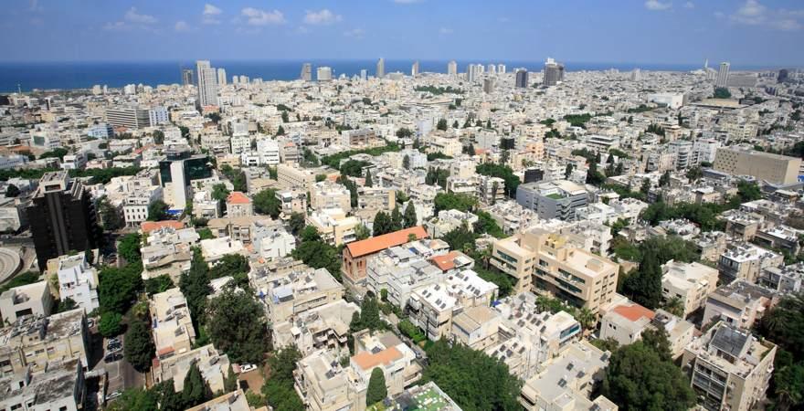 Die weiße Stadt, eine Sehenswürdigkeit und UNESCO-Weltkulturerbe in Tel Aviv Israel