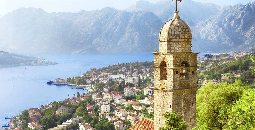 Blick auf die Stadt und die Bucht von Kotor