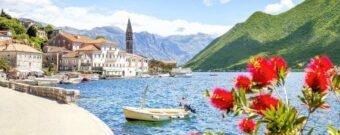 Perast an der berühmten Kotor Bucht in Montenegro