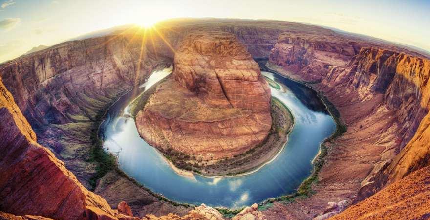 Eine Schleife des Colorado im Grand Canyon