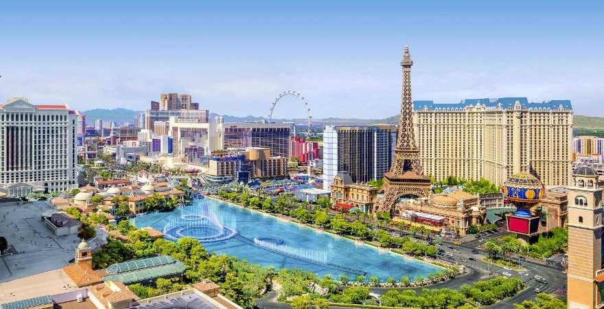 Ein Blick auf die Hotles am Las Vegas Strip