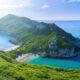 Zwillingsbucht von Porto Timoni auf Korfu