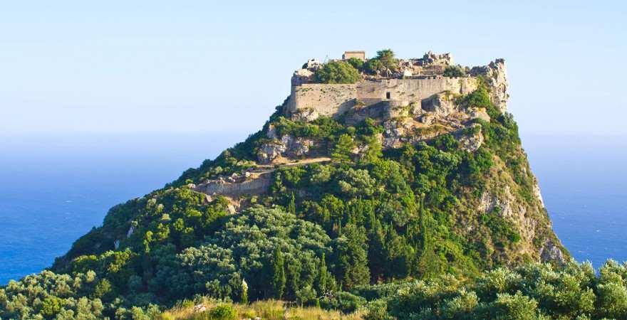 Die Ruine von Angelokastro auf Korfu